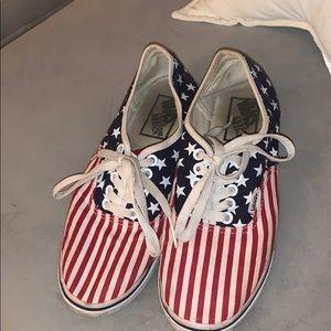 Custom American Flag Vans